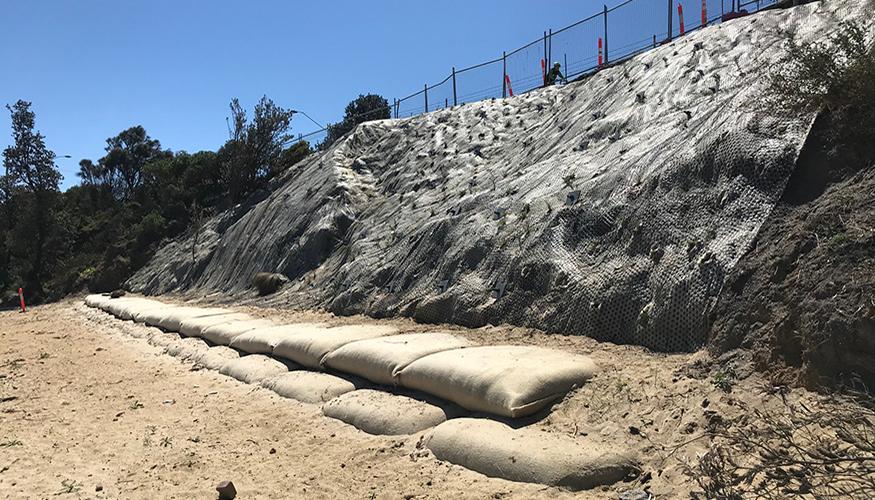 Sandringham erosion mitigation geo-container solution
