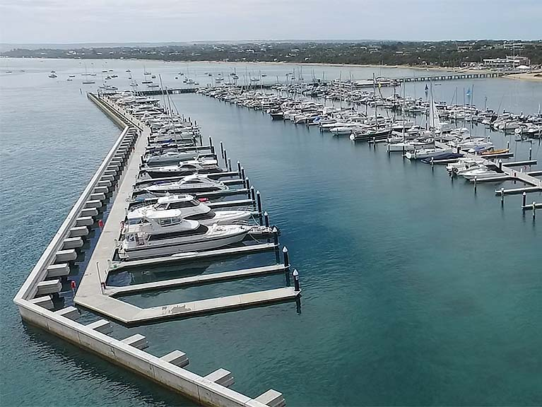 Blairgowrie design of marina