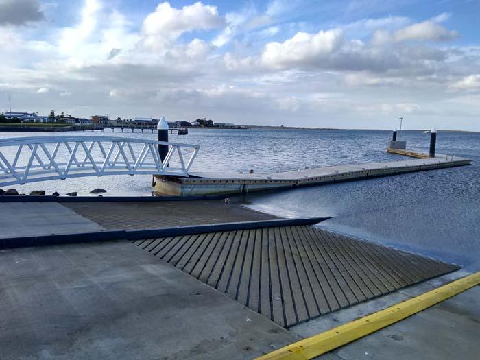 Boat launching facilities
