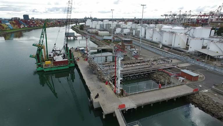 Port of Melbourne fire monitor towers