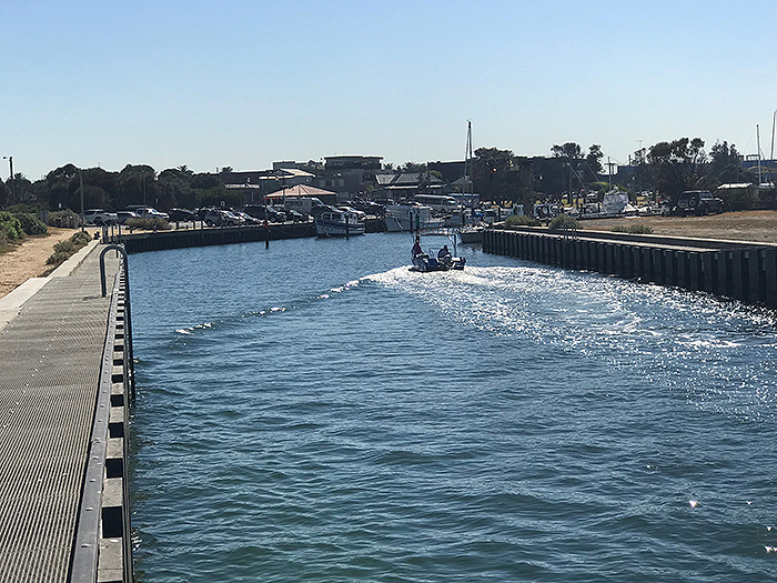 AW Maritime designed Mordialloc Creek wave baffles
