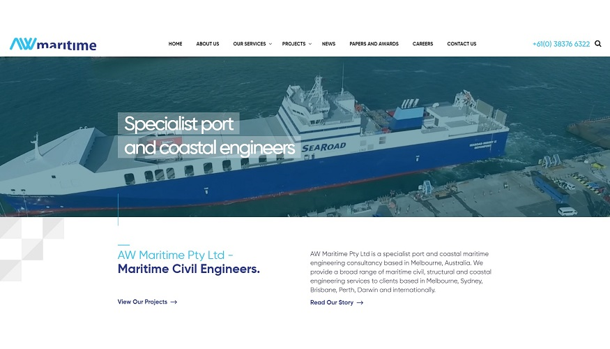 AW Maritime new website