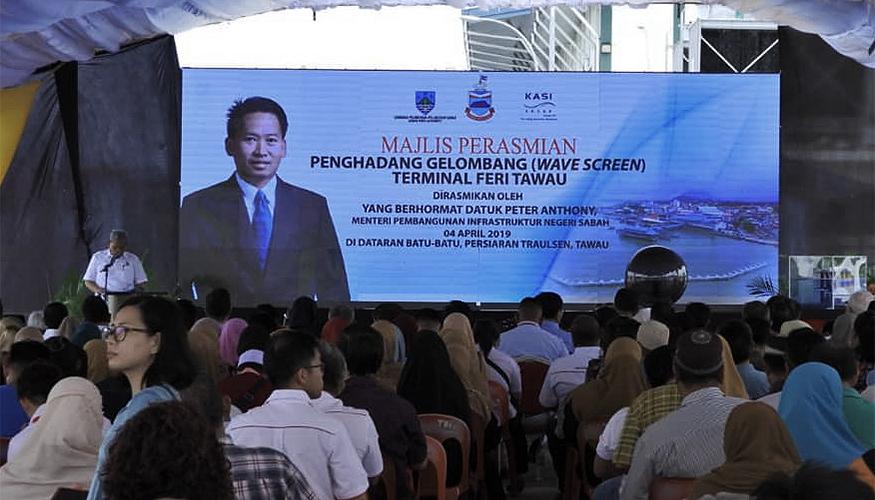 Opening of Wavescreen in Tawau Malaysia Presentation