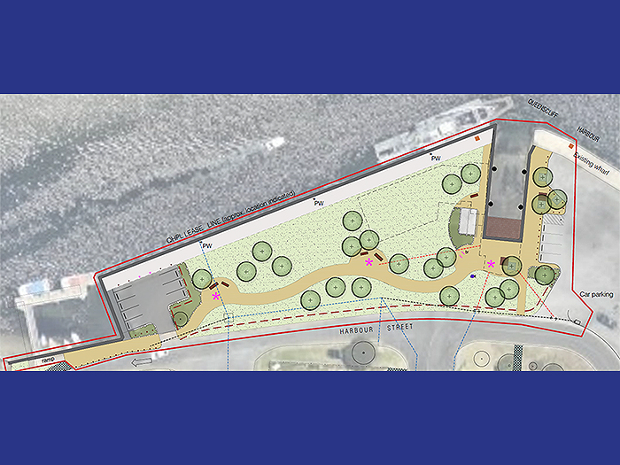 Fisherman's wharf landscape plan designed by AW Maritime