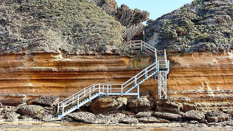 Jan Juc Beach Surf Access point steps