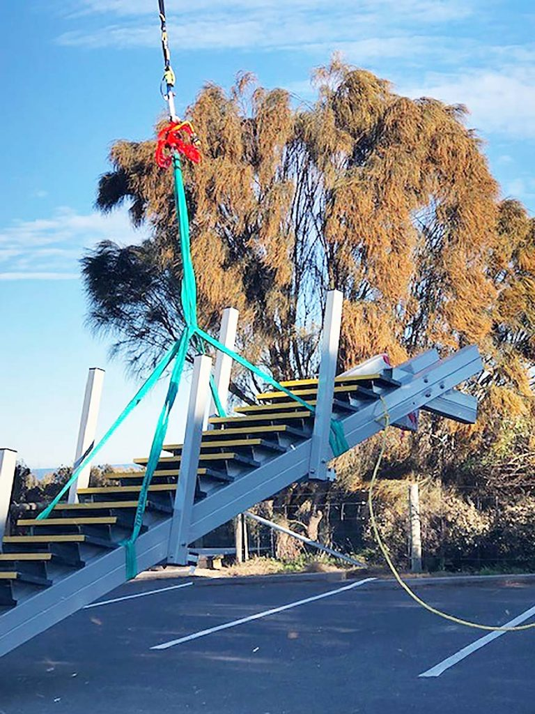 Jan Juc beach access steps installation