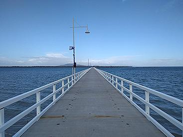 Port Welshpool long jetty and light