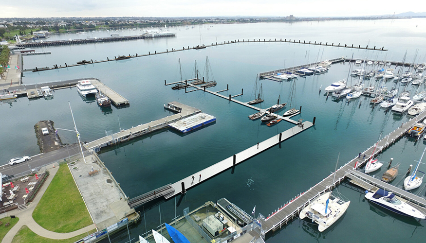 Geelong Waterfront floating marina