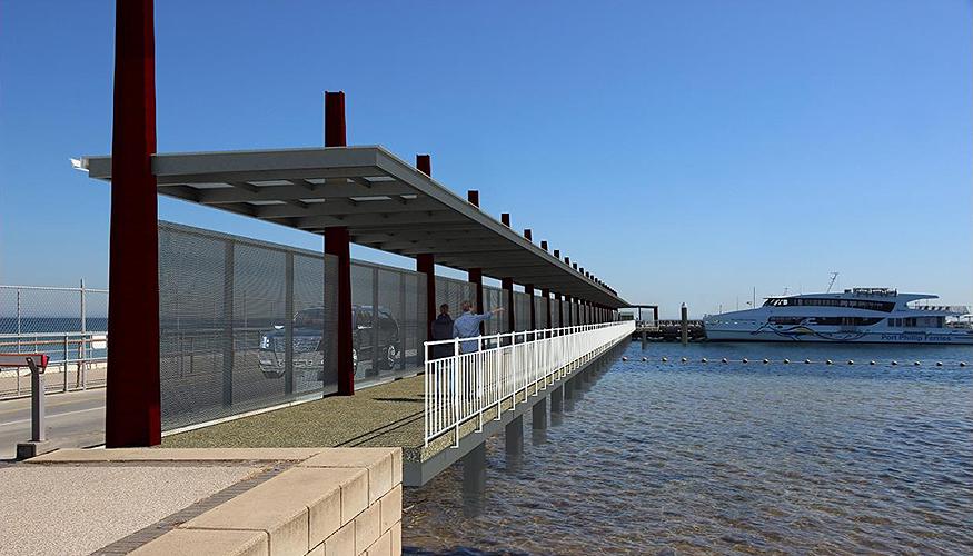Portarlington harbour covered walkway